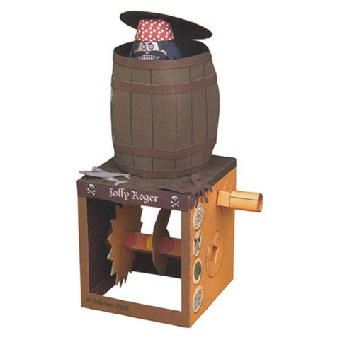 Pirate in a Barrel Animated Paper Model Kit