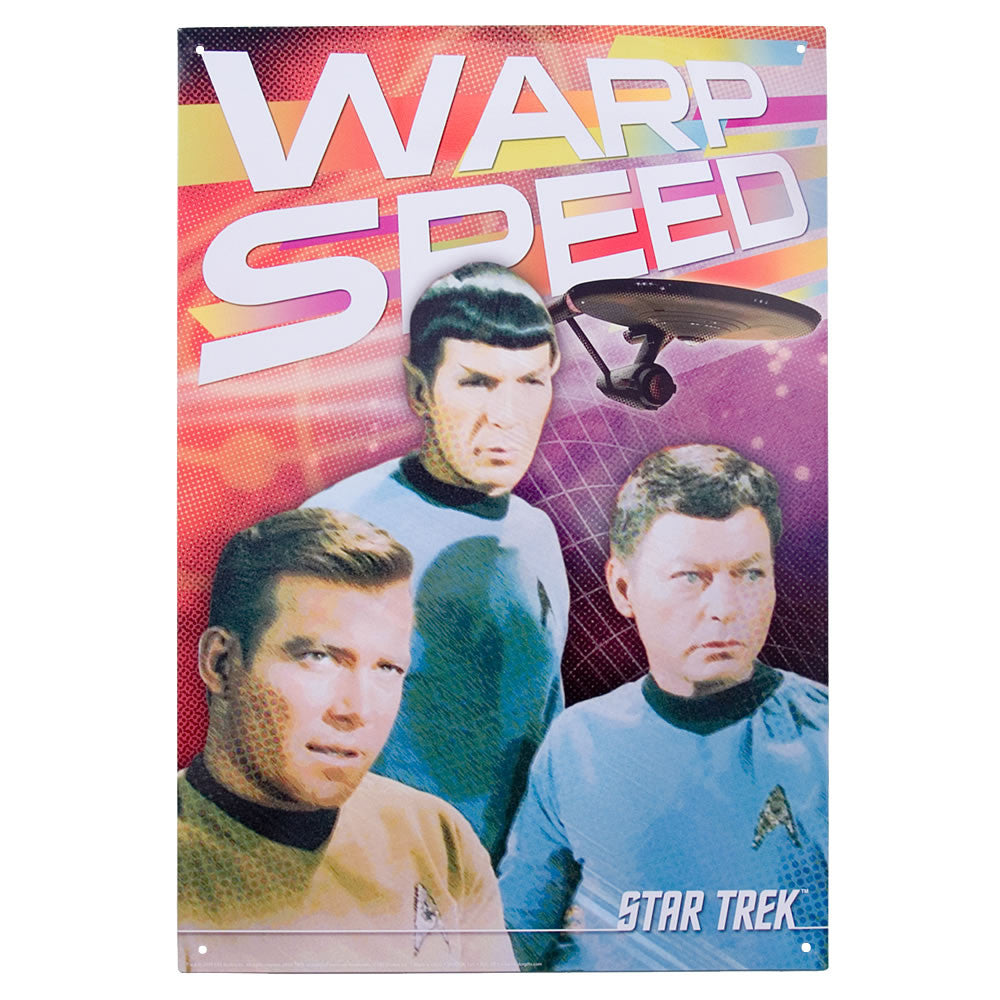 Star Trek 'Warp Speed' Metal Sign