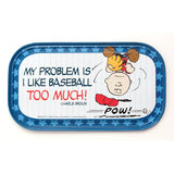Charlie Brown 'I Like Baseball' Magnetic Tin Sign