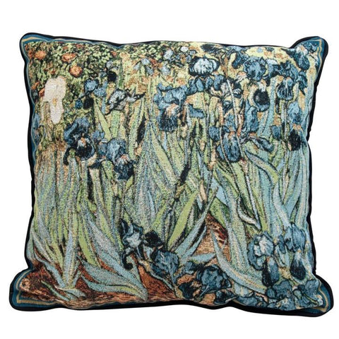 Van Gogh's Irises Tapestry Pillow
