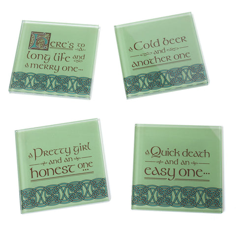 Irish Blessings Glass Coasters