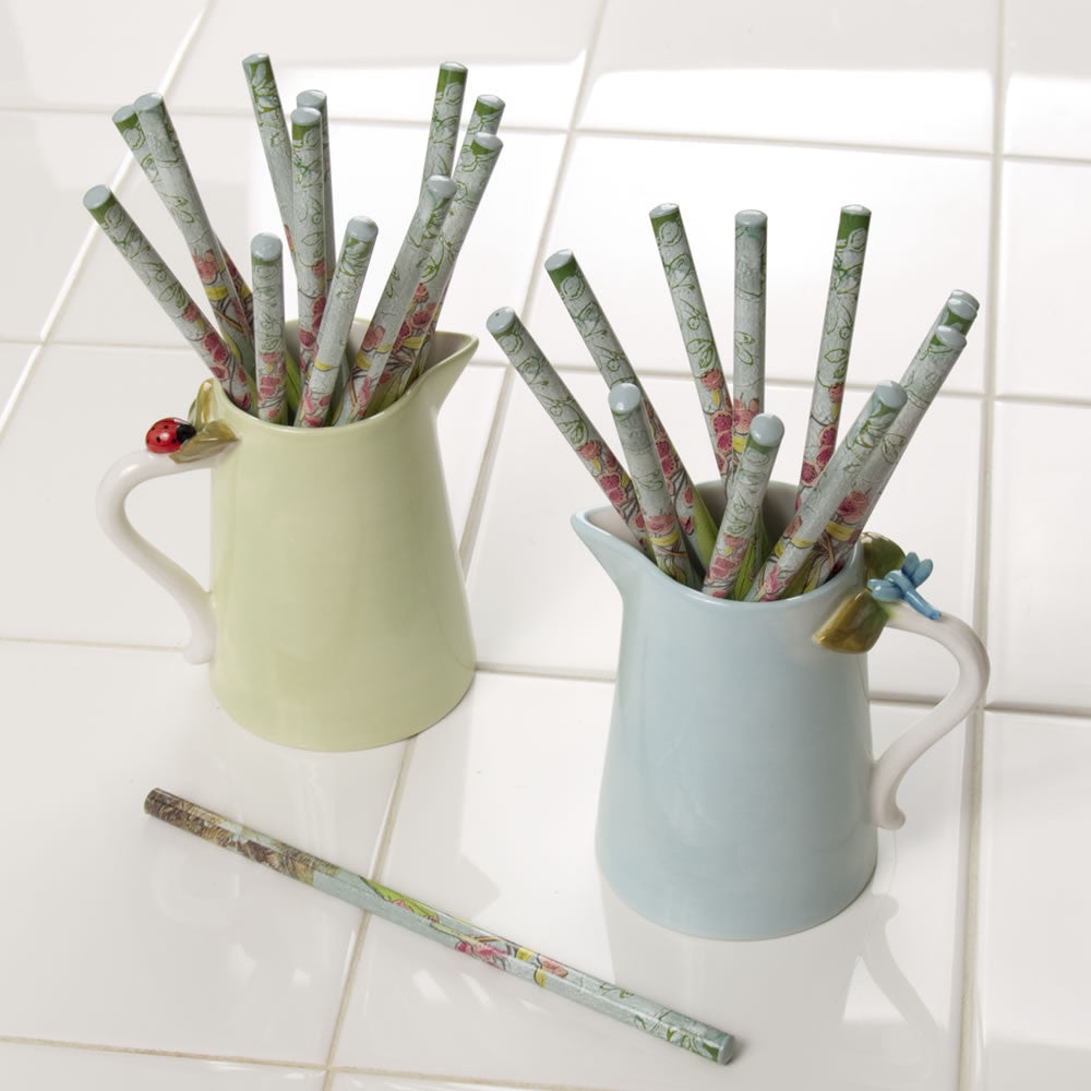 Cream Pitcher with Pencils