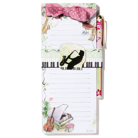 Music Hall Magnetic Notepad & Pen