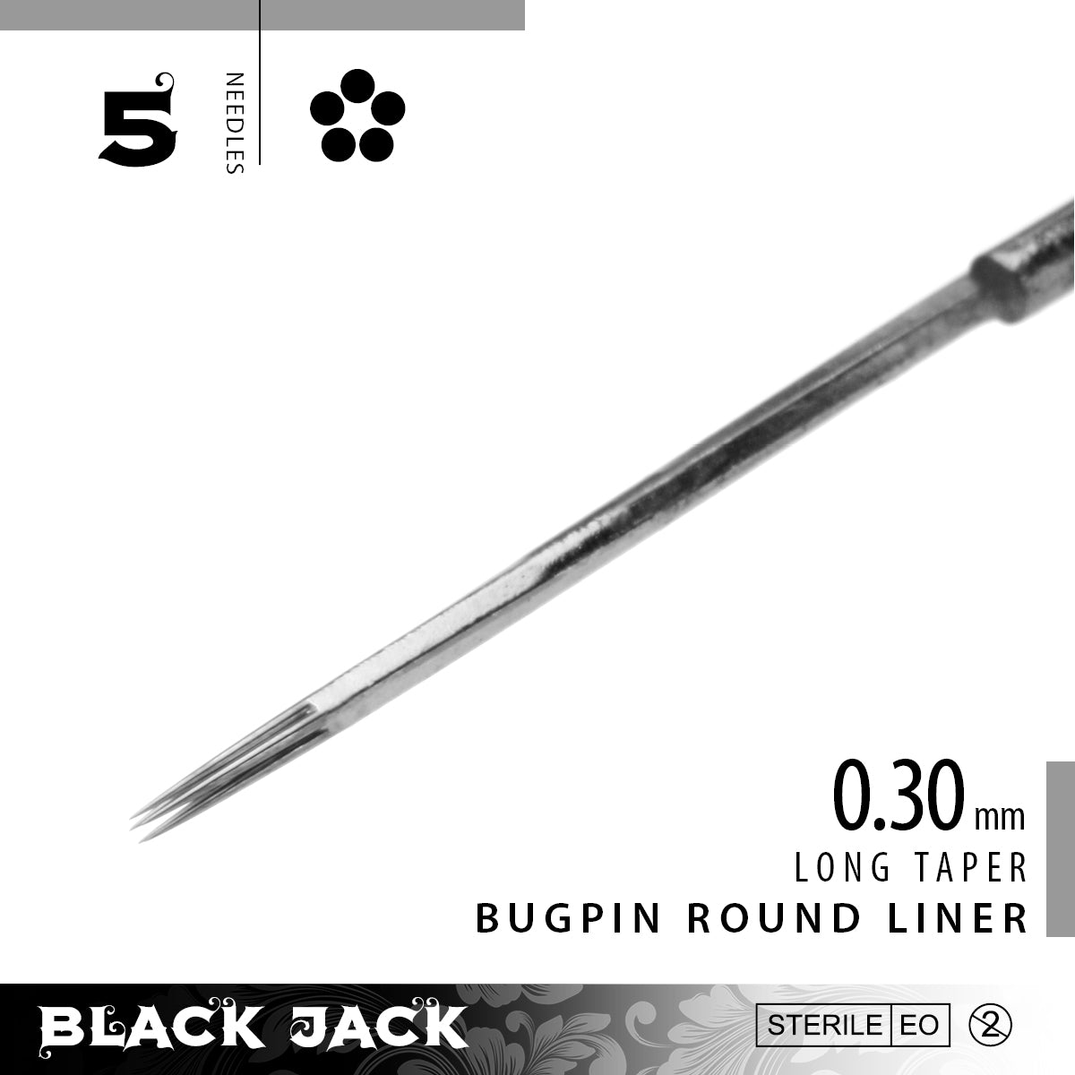 Black Jack Bugpin Liner Bar Needles