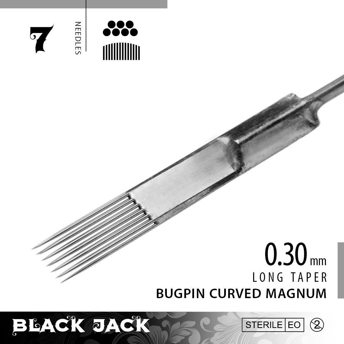 Black Jack Bugpin Curved Magnum Shader Bar Needles