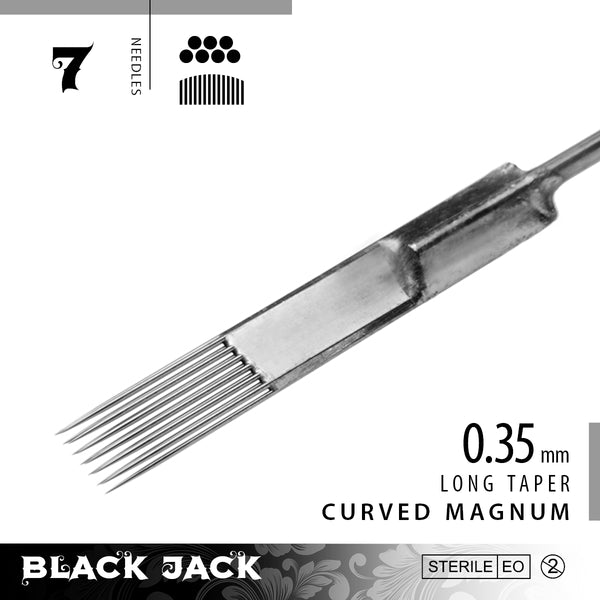 Black Jack Curved Magnum Shader Bar Needles