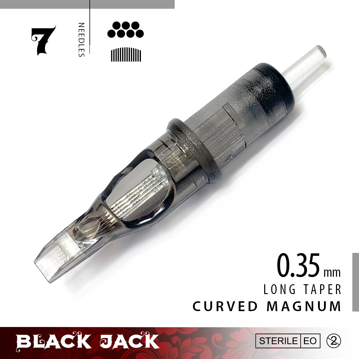 Black Jack Curved Magnum Cartridge Needles