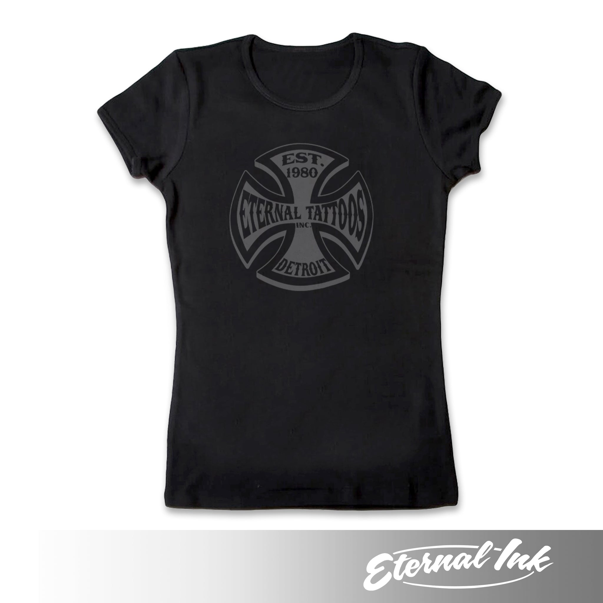 Eternal Tattoos Detroit Womens Tshirt