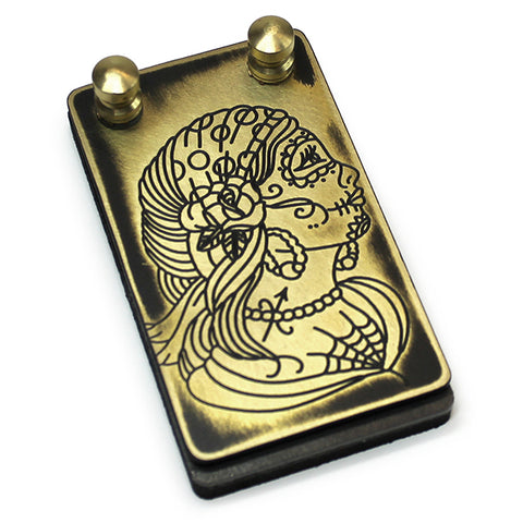 Eternal Custom Brass Foot Switch- Day of the Dead