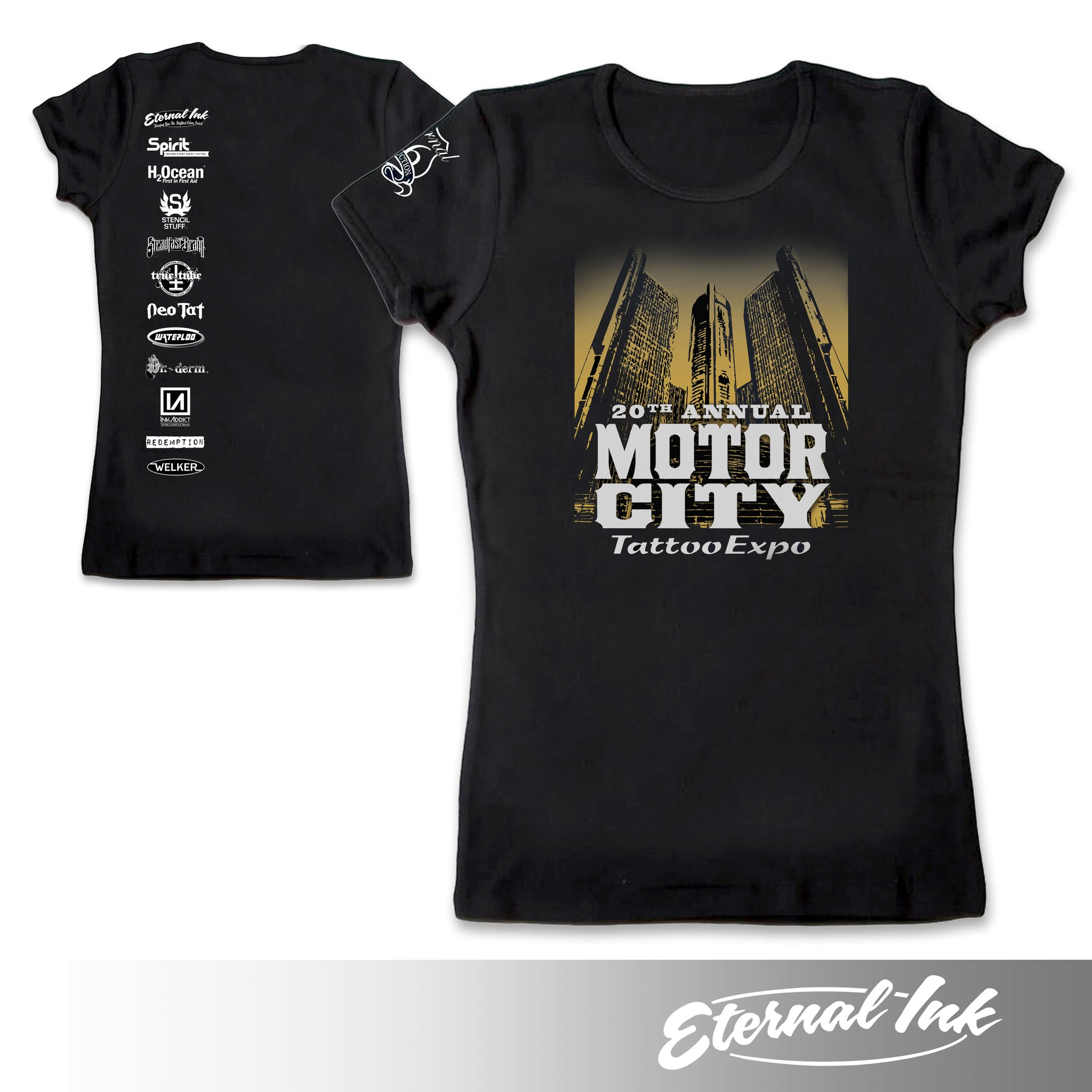 Motor City 20th Annual Convention Womens Tshirt