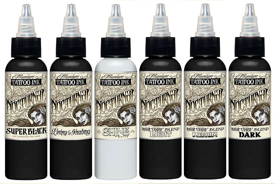 Nocturnal Ink Full Set Eternal Tattoo Supply Black outlining & shading tattoo ink. usd