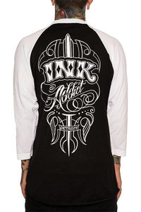 Ink Addict Shea Pinstripe Baseball Tee