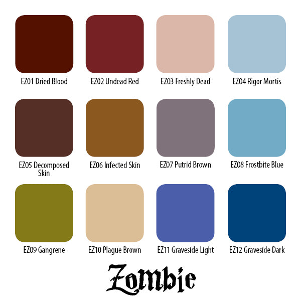 Zombie Colors Set