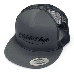 Eternal Ink Snapback Hat- Charcoal