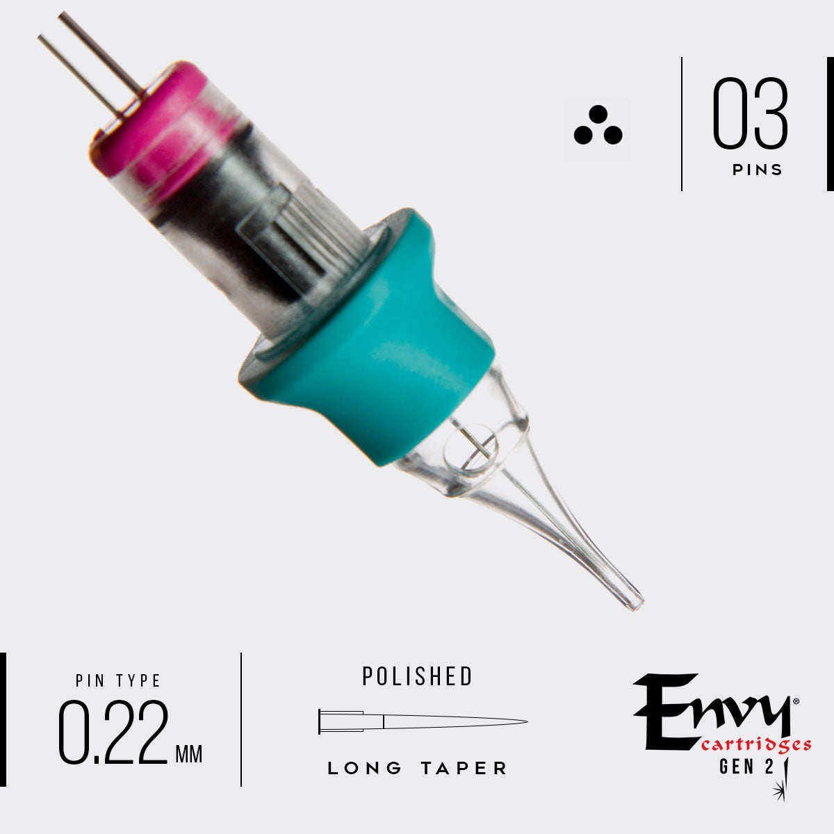 Envy Gen 2 Pico Flow Tip Round Shader Cartridges