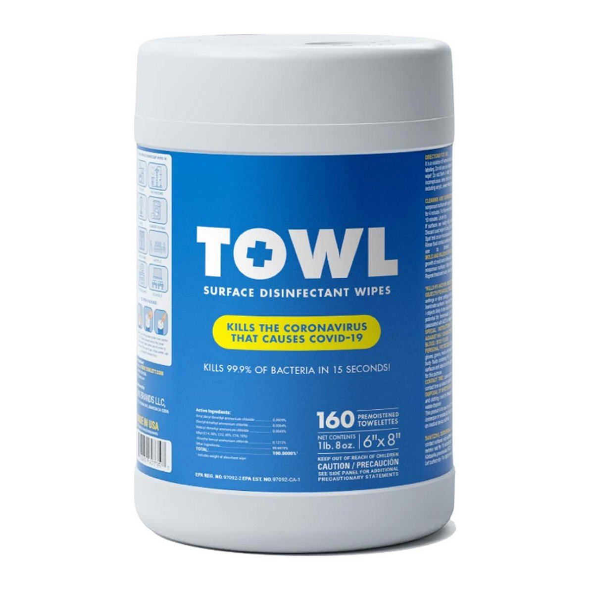 TOWL Surface Disinfectant Wipes