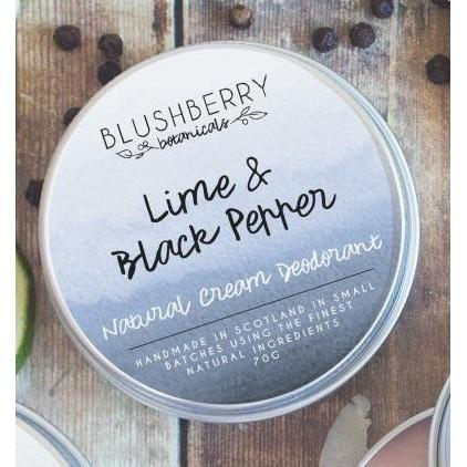 Blushberry Botanicals Natural Cream Deodorant Lime & Black Pepper
