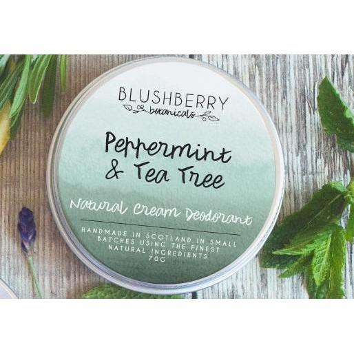 Blushberry Botanicals Natural Cream Deodorant Peppermint & Tea Tree