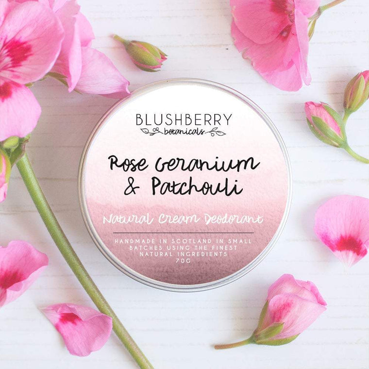 Blushberry Botanicals Natural Cream Deodorant Rose Geranium