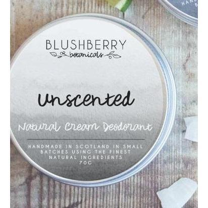 Blushberry Botanicals Natural Cream Deodorant Unscented-Deodorant-Wild Earth Beauty