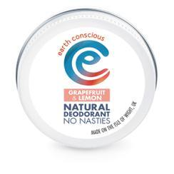 Earth Conscious Grapefruit & Lemon Natural Deodorant 60g