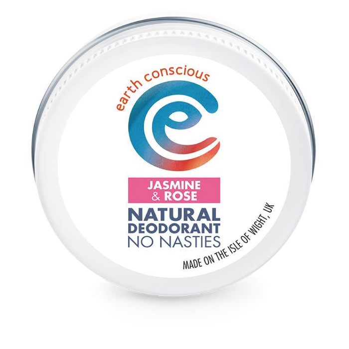 Earth Conscious Jasmine & Rose Deodorant 60g-Deodorant-Wild Earth Beauty