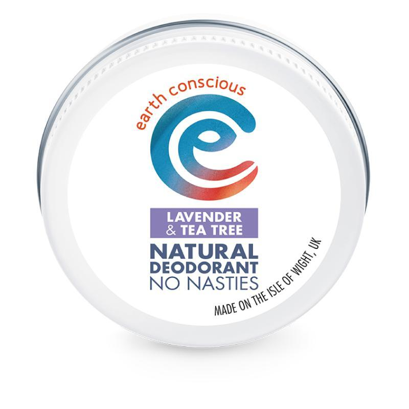 Earth Conscious Lavender & Tea Tree Natural Deodorant 60g-Deodorant-Wild Earth Beauty