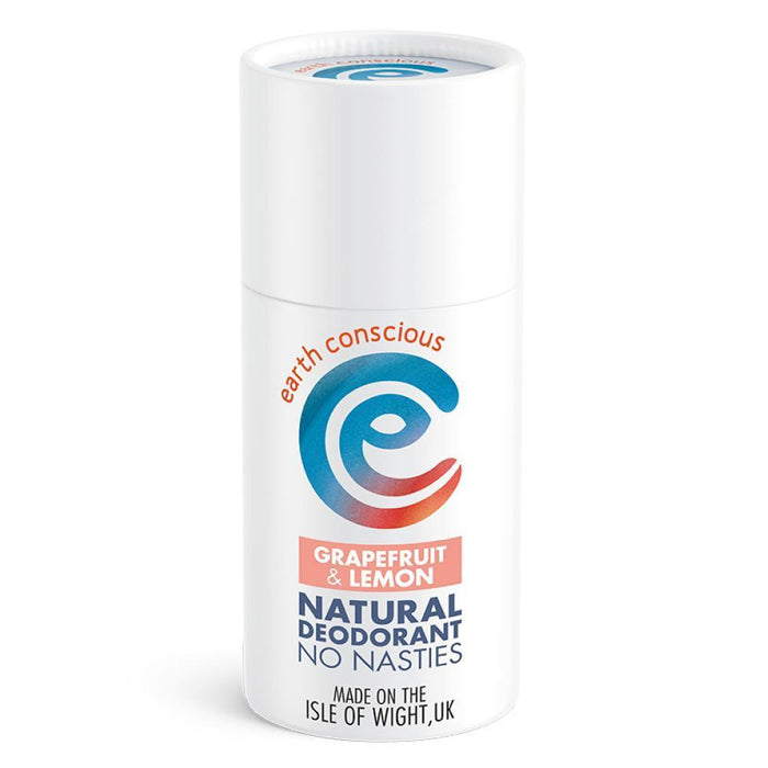 Earth Conscious Natural Deodorant Stick Grapefruit & Lemon 60g-Deodorant-Wild Earth Beauty