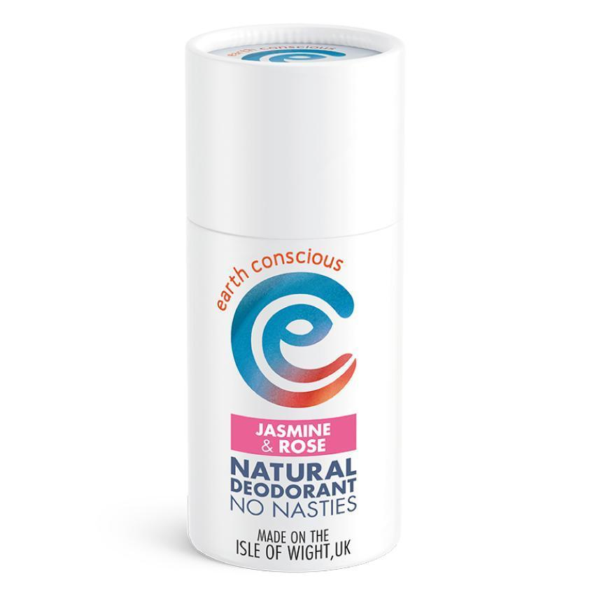 Earth Conscious Natural Deodorant Stick Jasmine & Rose 60g-Deodorant-Wild Earth Beauty