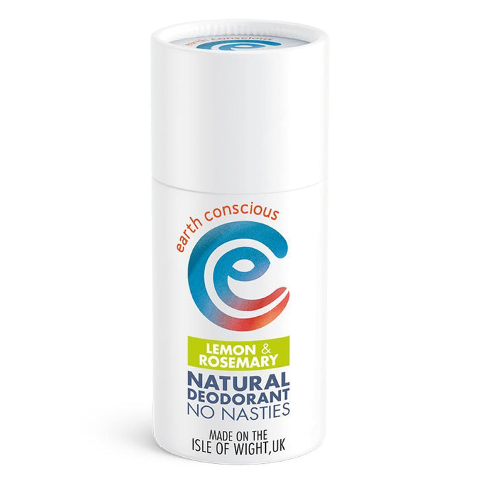 Earth Conscious Natural Deodorant Stick Lemon & Rosemary 60g-Deodorant-Wild Earth Beauty