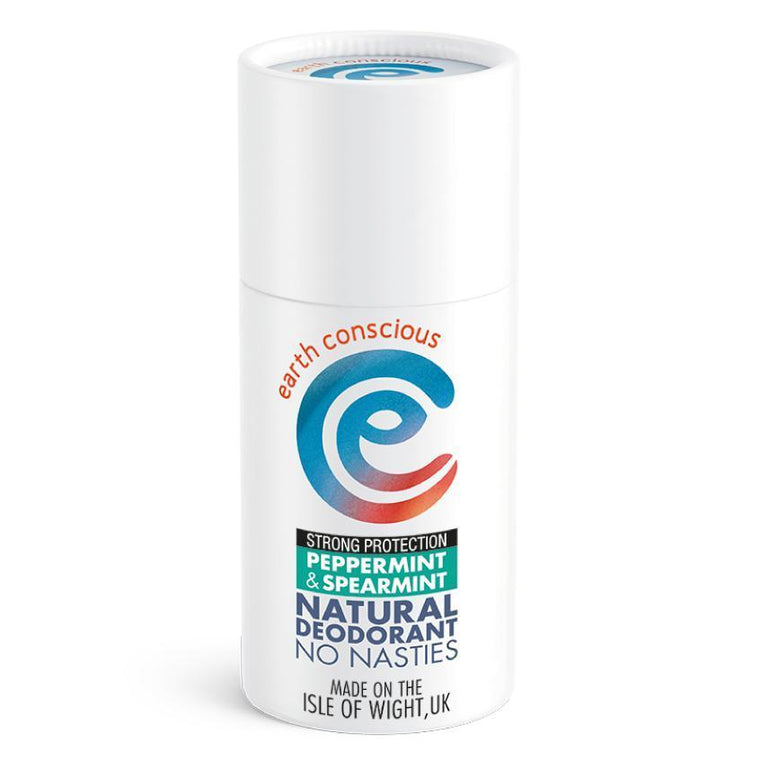 Earth Conscious Natural Deodorant Stick Peppermint & Spearmint (Strong Protection)