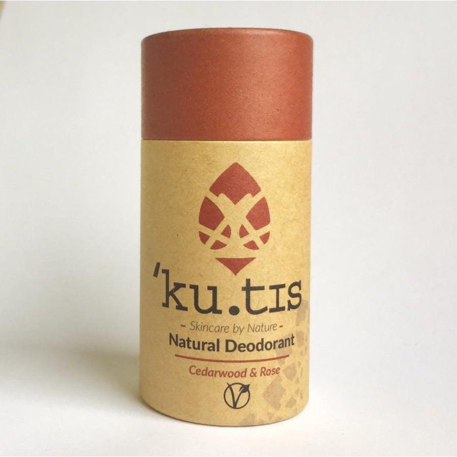 Ku.tis Cedarwood & Rose Vegan Deodorant Stick 55g-Deodorant-Wild Earth Beauty