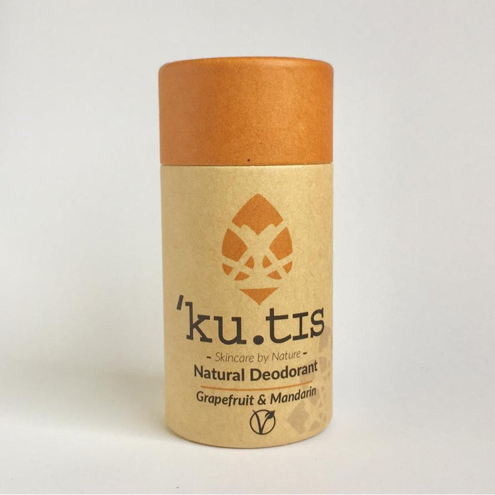 Ku.tis Grapefruit & Mandarin Vegan Deodorant Stick 55g-Deodorant-Wild Earth Beauty