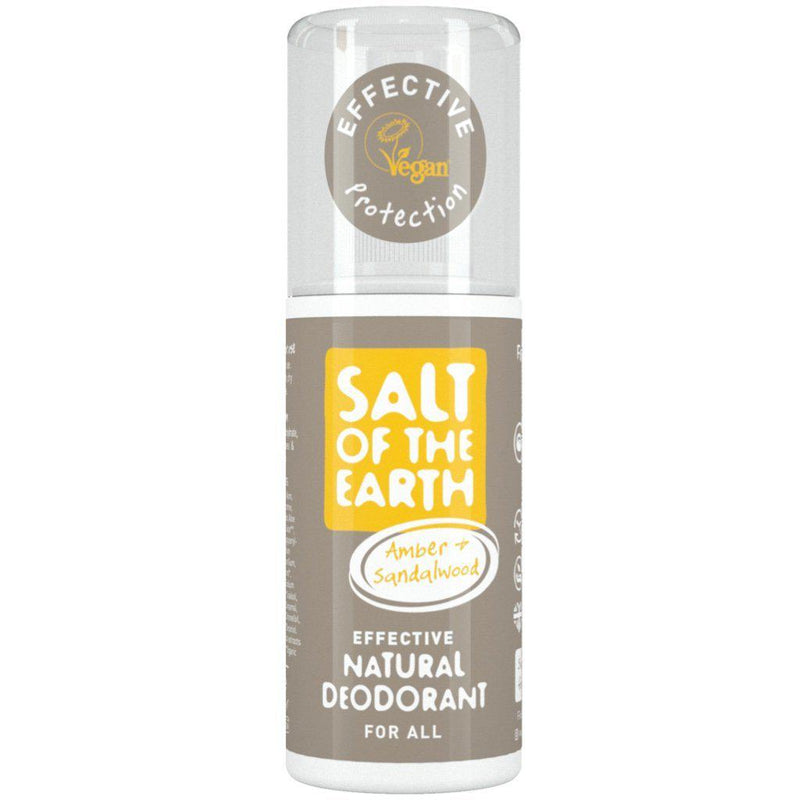 Salt Of The Earth Amber & Sandalwood Deodorant Spray-Deodorant-Wild Earth Beauty