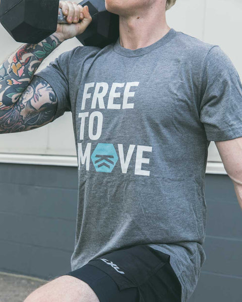 Free to Move Men's Tee (Teal)