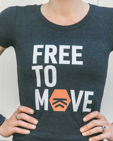 Free to Move Women's Tee (Orange)