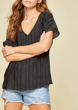 Be Simple Textured Top | Black