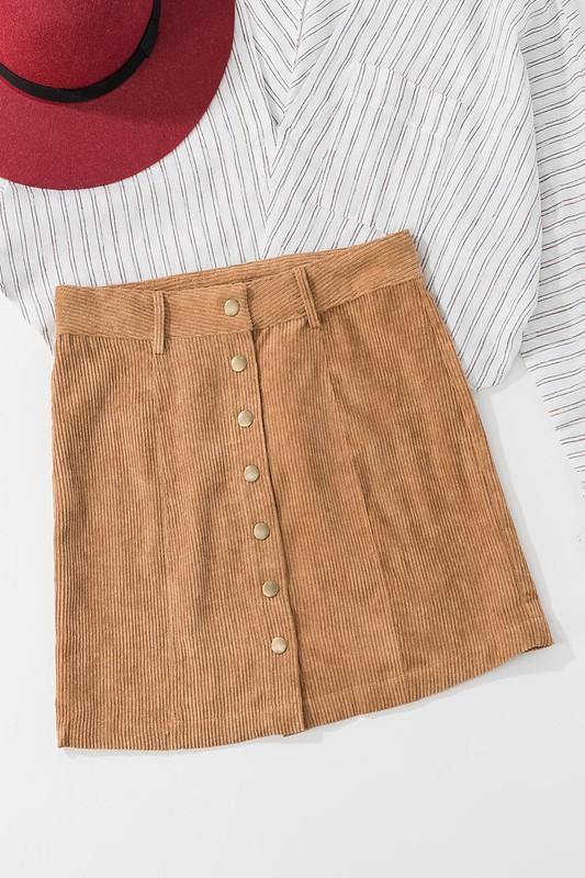 ALL ON PURPOSE CORDUROY SKIRT