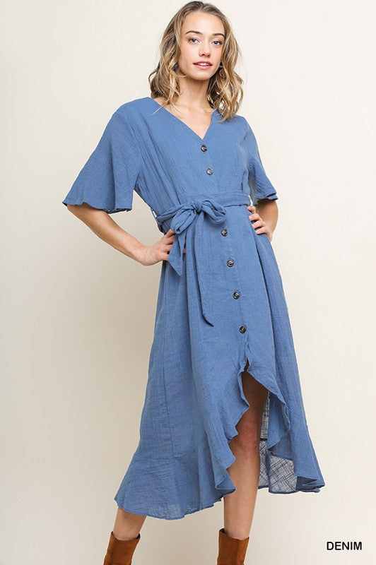 HAMPTONS HIDEAWAY BUTTON UP DRESS