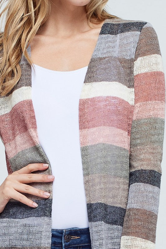 SHOW ME YOUR STRIPES CARDI
