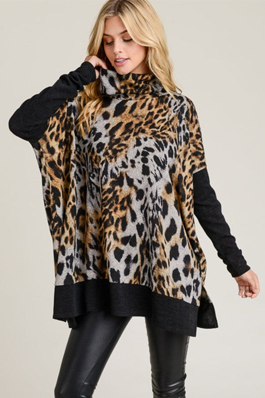 SPOTTED OUT ON THE TOWN LEOPARD TUNIC