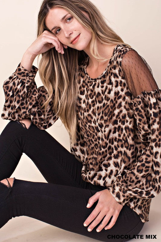 SOLE SOCIETY LEOPARD TOP