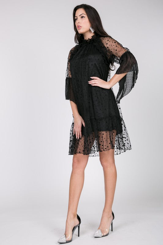 DATE NIGHTS IN EUREKA RUFFLE DRESS
