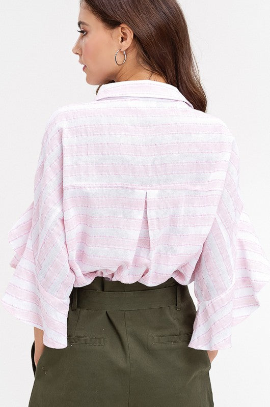 IM OVER YOU BELL SLEEVE TOP