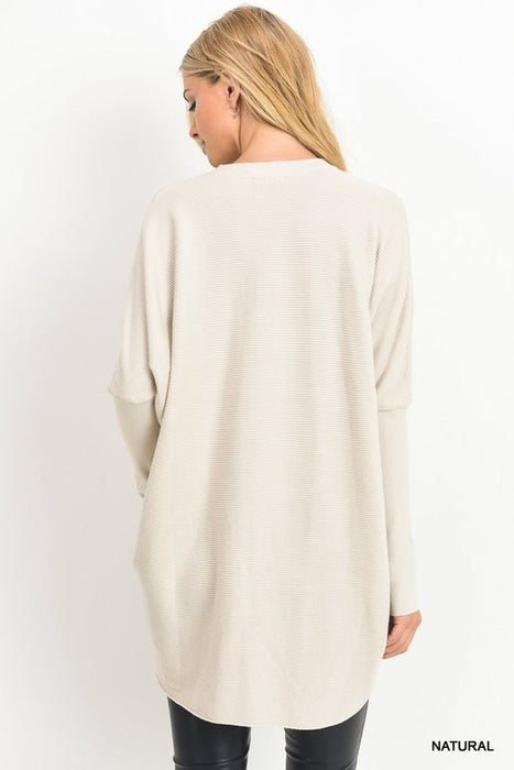 TAKE A MINUTE CHOKER NECK SWEATER