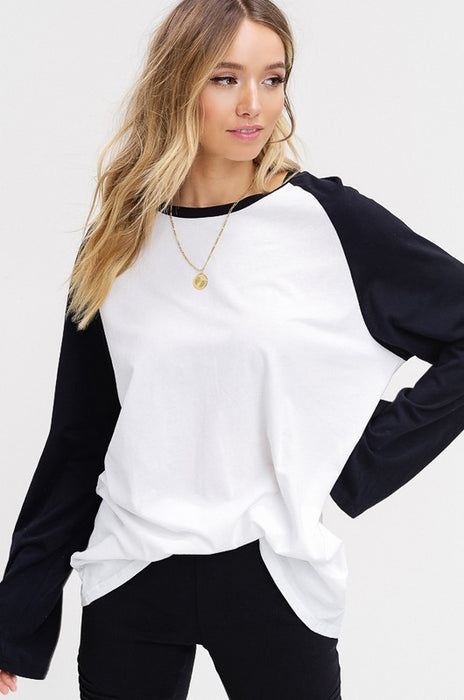 NEW IDEAS RAGLAN TOP