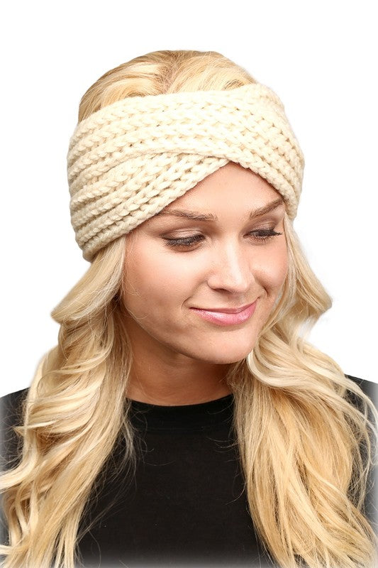 CABLE KNIT HEAD WRAP
