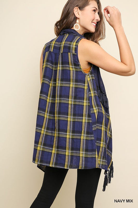 SOMETHING JUST LIKE THIS NAVY VEST