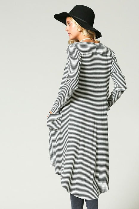 PRETTY FLY FOR THE TRANSITION STRIPE CARDIGAN