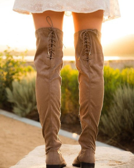 STANDING ON SOLID GROUND KNEE HIGH BOOTS